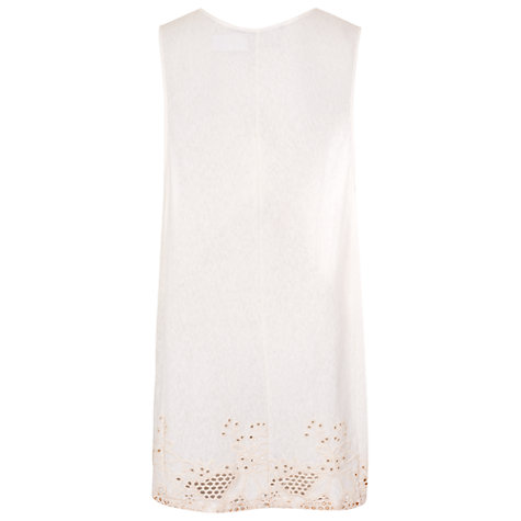 Buy French Connection Sophie Drape Sleeveless Top, Brule Online at johnlewis.com