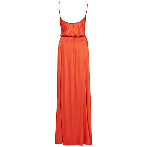 Buy French Connection Alanis Jersey Dress, Havana Red Online at johnlewis.com