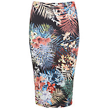 Buy Miss Selfridge Tropical Print Pencil Skirt, Multi Online at johnlewis.com