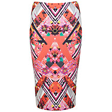 Buy Miss Selfridge Mirror Print Pencil Skirt, Multi Online at johnlewis.com