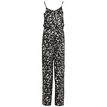 Buy French Connection Island Storm Jumpsuit, Black/Multi Online at johnlewis.com