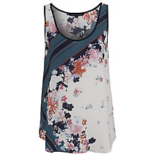 Buy French Connection Belle Garden Silk Vest, White/Multi Online at johnlewis.com