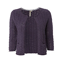 Buy White Stuff Rose Crochet Cardigan, Darkest Periwinkle Online at johnlewis.com
