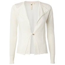Buy White Stuff Nadine Linen Blend Cardigan, Tealight Online at johnlewis.com