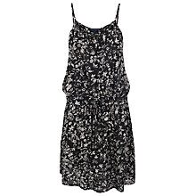 Buy French Connection Island Storm Voile Dress, Black/Multi Online at johnlewis.com