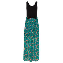 Buy Oasis Tropical Bird Maxi Dress, Green/Multi Online at johnlewis.com