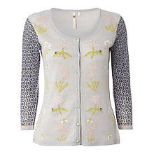 Buy White Stuff  Linen Meadow Cardigan, Light Clouded Online at johnlewis.com