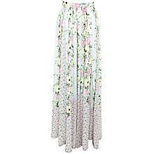 Buy French Connection Desert Tropicana Chiffon Skirt, Ice Cooler/Multi Online at johnlewis.com