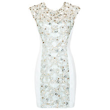 Buy French Connection Fast Encrusted Lace Dress, Tea Tree Online at johnlewis.com