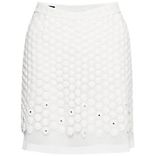 Buy French Connection Sparkling Sunflower Skirt, Winter White Online at johnlewis.com