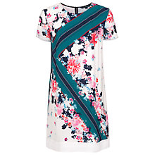 Buy French Connection Belle Garden Silk Dress, White/Multi Online at johnlewis.com