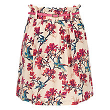 Buy Oasis Tropical Bird Paperbag Skirt, Multi Online at johnlewis.com