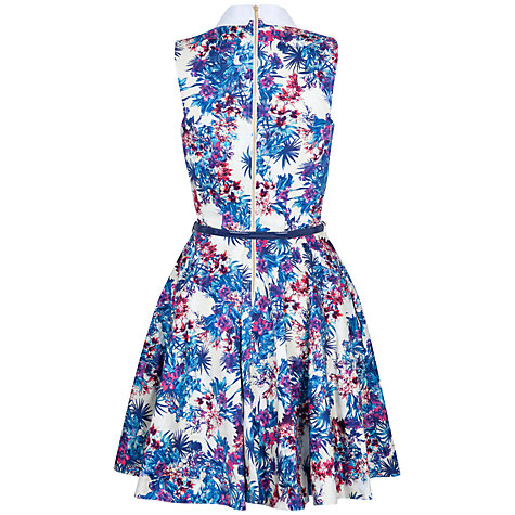 Buy Closet Collar Belt Dress, Blue Online at johnlewis.com