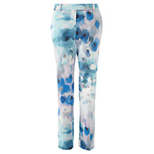 Buy Jigsaw Watercolour Print Trousers, Blue Online at johnlewis.com