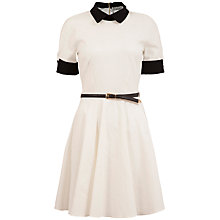 Buy Closet Jacquard Collar Dress, White Online at johnlewis.com