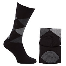 Buy Calvin Klein Argyle Socks, Pack of 2 Online at johnlewis.com