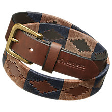 Buy pampeano Leather Polo Belt, Jefe Online at johnlewis.com