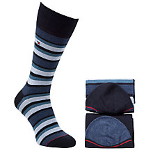 Buy Tommy Hilfiger Variation Stripe Socks, Pack of 2 Online at johnlewis.com