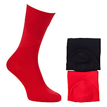 Buy Tommy Hilfiger Placed Argyle Socks, Pack of 2, Red/Black Online at johnlewis.com