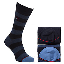 Buy Tommy Hilfiger Rugby Stripe Socks, Pack of 2 Online at johnlewis.com