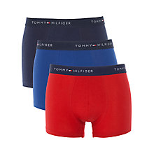 Buy Tommy Hilfiger Sam Trunks, Pack of 3, Navy/Red/Blue Online at johnlewis.com