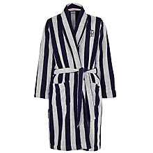 Buy Tommy Hilfiger Triad Stripe Robe, Navy/Grey Online at johnlewis.com