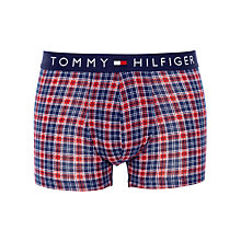 Buy Tommy Hilfiger Randolph Checked Trunks, Navy/Red Online at johnlewis.com