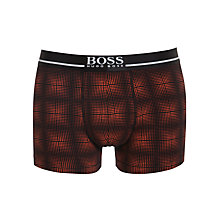 Buy BOSS 24 Check Print Trunks, Black/Orange Online at johnlewis.com
