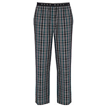 Buy BOSS Woven Check Lounge Pants, Grey Online at johnlewis.com