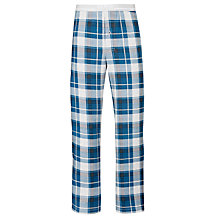Buy BOSS Check Print Lounge Pants, Teal Online at johnlewis.com