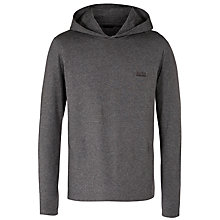 Buy BOSS Long Sleeve Jersey Hoody, Charcoal Online at johnlewis.com