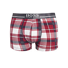 Buy BOSS Check Trunks, Red Online at johnlewis.com