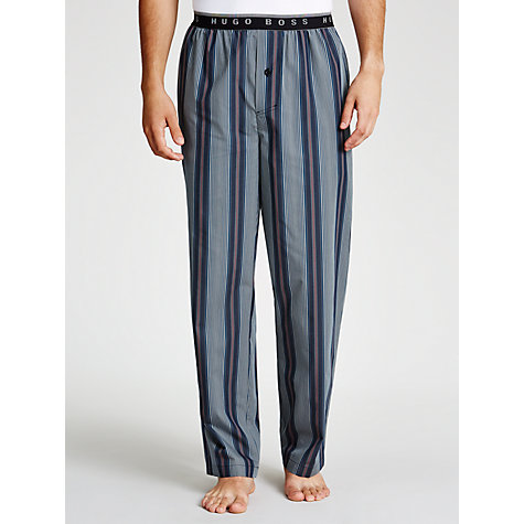 Buy BOSS Woven Stripe Lounge Pants, Navy Online at johnlewis.com