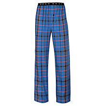 Buy BOSS Check Print Lounge Pants, Blue Online at johnlewis.com