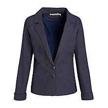 Buy Seasalt Digey Jersey Blazer, Keel Indigo Online at johnlewis.com