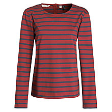 Buy Seasalt Porthgwarra Top, Ember/Tidepool Online at johnlewis.com