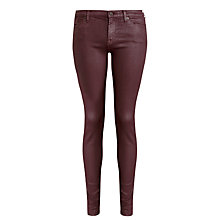 Buy 7 For All Mankind The Skinny Saddle Leather Look Jeans, Port Online at johnlewis.com