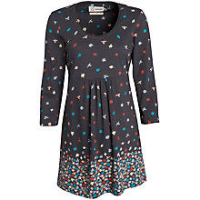 Buy Seasalt Trevilley Tunic Dress,  Wild Leaves Border Coal Online at johnlewis.com
