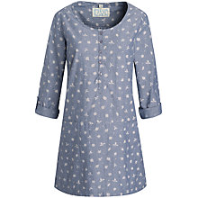 Buy Seasalt Morrab Tunic Top, Wild Leaves Indigo Online at johnlewis.com