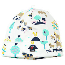 Buy Polarn O. Pyret Baby Farm Print Beanie Hat, Multi Online at johnlewis.com