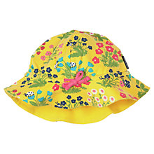 Buy Polarn O. Pyret Girls' Floral Print Sun Hat, Yellow Online at johnlewis.com