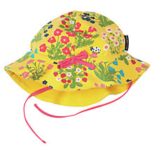 Buy Polarn O. Pyret Baby Floral Print Sun Hat, Yellow Online at johnlewis.com