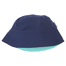 Buy Polarn O. Pyret Reversible Sun Hat, Blue/Navy Online at johnlewis.com