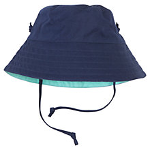 Buy Polarn O. Pyret Baby Reversible Sun Hat, Blue/Navy Online at johnlewis.com