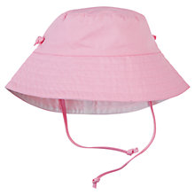 Buy Polarn O. Pyret Baby Reversible Sun Hat, Pink/White Online at johnlewis.com