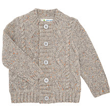 Buy John Lewis Aran Knitted Cardigan, Grey Online at johnlewis.com