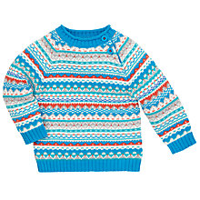 Buy John Lewis Fair Isle Piecrust Jumper, Multi Online at johnlewis.com