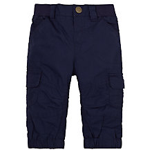 Buy John Lewis Baby Poplin Skater Trousers, Navy Online at johnlewis.com
