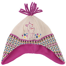 Buy John Lewis Fair Isle Deer Trapper Hat, Multi Online at johnlewis.com