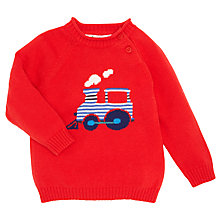 Buy John Lewis Piecrust Knitted Train Jumper, Red Online at johnlewis.com